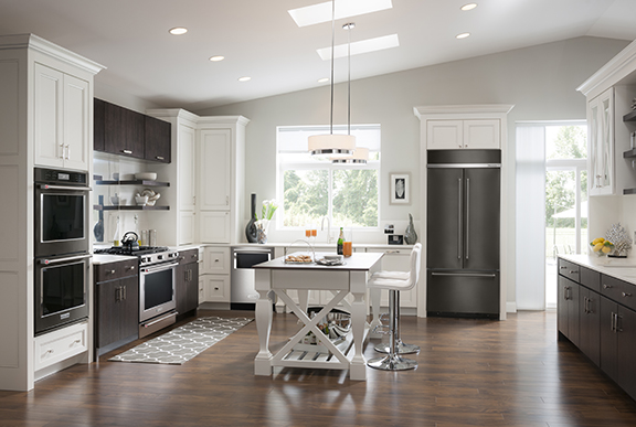 KitchenAid's Black Stainless Steel Appliances Are Current for 2016.