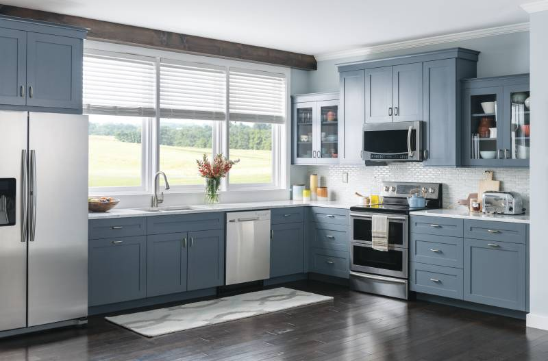 Gray Color Schemes Are Trendy for Kitchens  in 2016. Photo Courtesy of Moen.com.