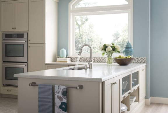 This blue and white kitchen is on-trend for 2016.