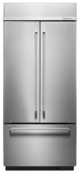 The Freezer Is on the Bottom in This Trendy KitchenAid Refrigerator.