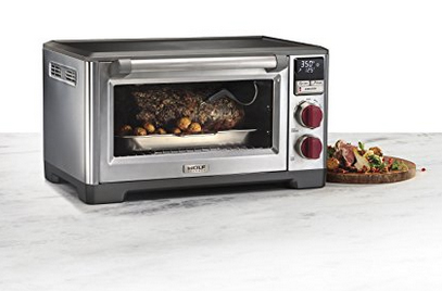 Wolf Gourmet makes a countertop convection oven that's ideal for use even in the smallest of kitchens. It's also a fantastic addition to spacious gourmet kitchens.