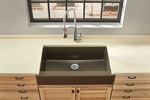 Elkay's Quartz Luxe sink, pictured here, might just take the cake for trendy sinks in 2018. It combines 4 of the top kitchen trends into one single design element: It's a single basin design; it's a farmhouse sink; it's an undermount sink and it's made of a blended quartz material. Photo Courtesy of Elkay.com