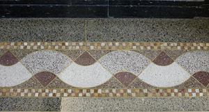 Detail of the Terrazzo Tile Floor in the Library of Congress John Adams Building, Washington, D.C. -- Photographed by Carol Highsmith. Photo Courtesy of the US Library of Congress.