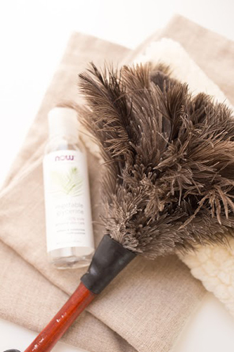 A Feather Duster Is a Fantastic Addition to Your Stash of DIY Organic Home Cleaning Supplies. Photo © Natalie Wise; Used With Permission.