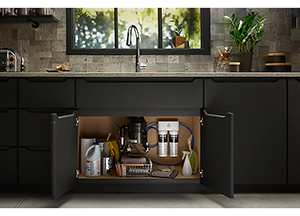 Healthy homes are a top trend in 2019. One of the main health concerns in the kitchen: Clean drinking water. Studies show that most bottled water is contaminated with microplastics. Water filtration is the best way to ensure clean, healthy drinking water at home. Here you can see a new water filtration system by Kohler.