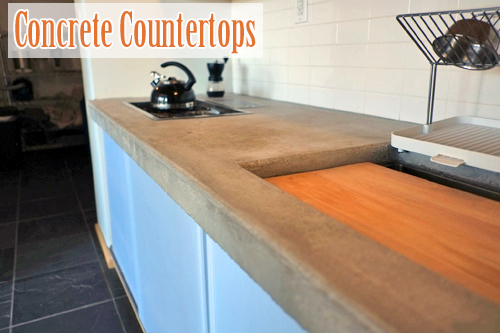 Concrete Kitchen Countertop. Photo courtesy of Nicolás Boullosa.