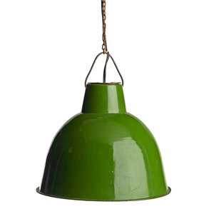 This Pendant Light Is Green in More Ways Than One. It's a Reclaimed Industrial Pendant Light, Available for Sale From Bambeco.com.