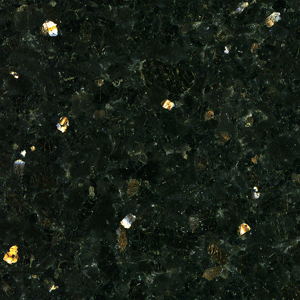 Black Galaxy Granite, a Popular Natural Stone for Constructing Kitchen Countertops, Bathroom Vanity Tops and Granite Tiles. This Example Originated in Southern India.