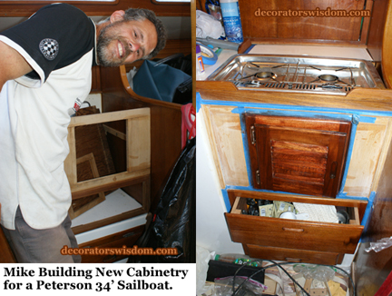 Building New Cabinetry for a Peterson 34 Sailboat