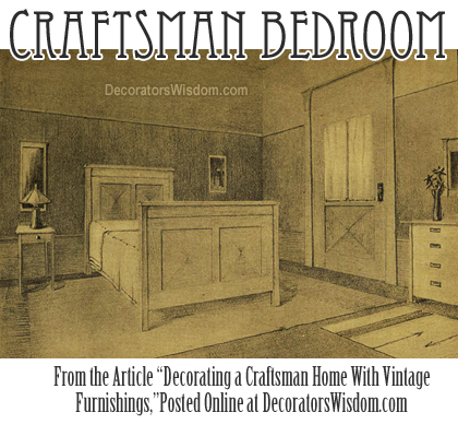 Decorating a Craftsman Bedroom With Furniture That Matches the Architecture
