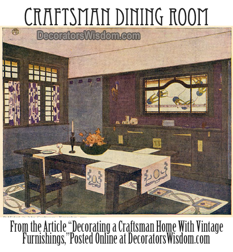 A Typical Craftsman Dining Room, Circa 1905