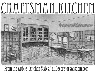 A Craftsman Style Kitchen, Otherwise Known as Arts and Crafts or Mission Style Kitchen.