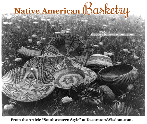 Native American Basketry. These Baskets Were Created by the Shoshonean Indians in California Missions, Circa 1920-1930.