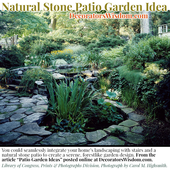 natural stone patio garden idea - Patio Garden Ideas