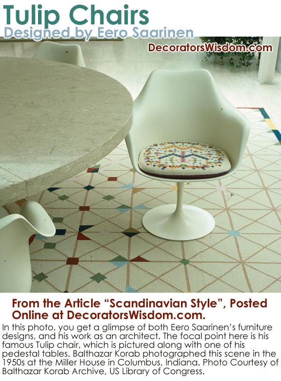 Midcentury Modern Tulip Chair by Finnish-Born Scandinavian / American Designer Eero Saarinen.