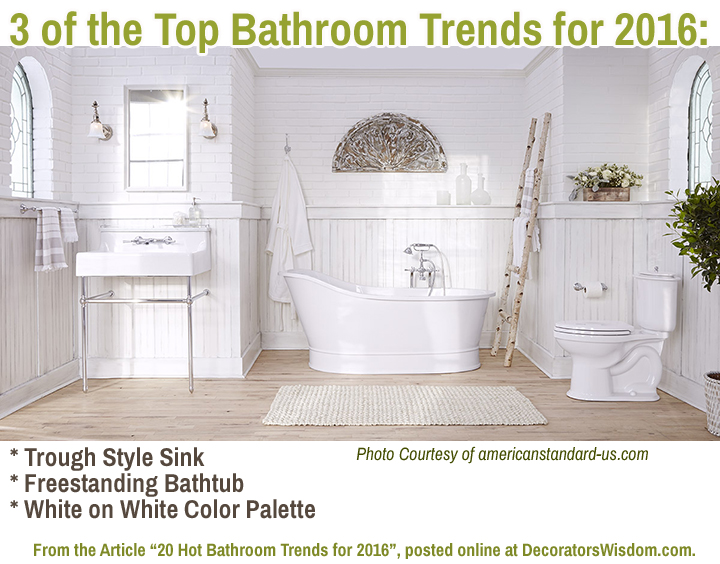 3 of the Top Bathroom Trends for 2016